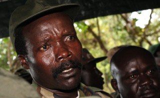 A file photo taken on November 12, 2006, shows the former leader of the Lord's Resistance Army, Joseph Kony. Photo by Stuart Price/AFP/Getty Images
