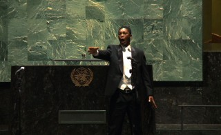 South African opera singer Thesele Kemane performs for the United Nations.