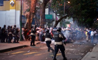 Protesters took to the streets in Caracas, Venezuela on Feb. 15, 2014. Photo by Flickr user andresAzp