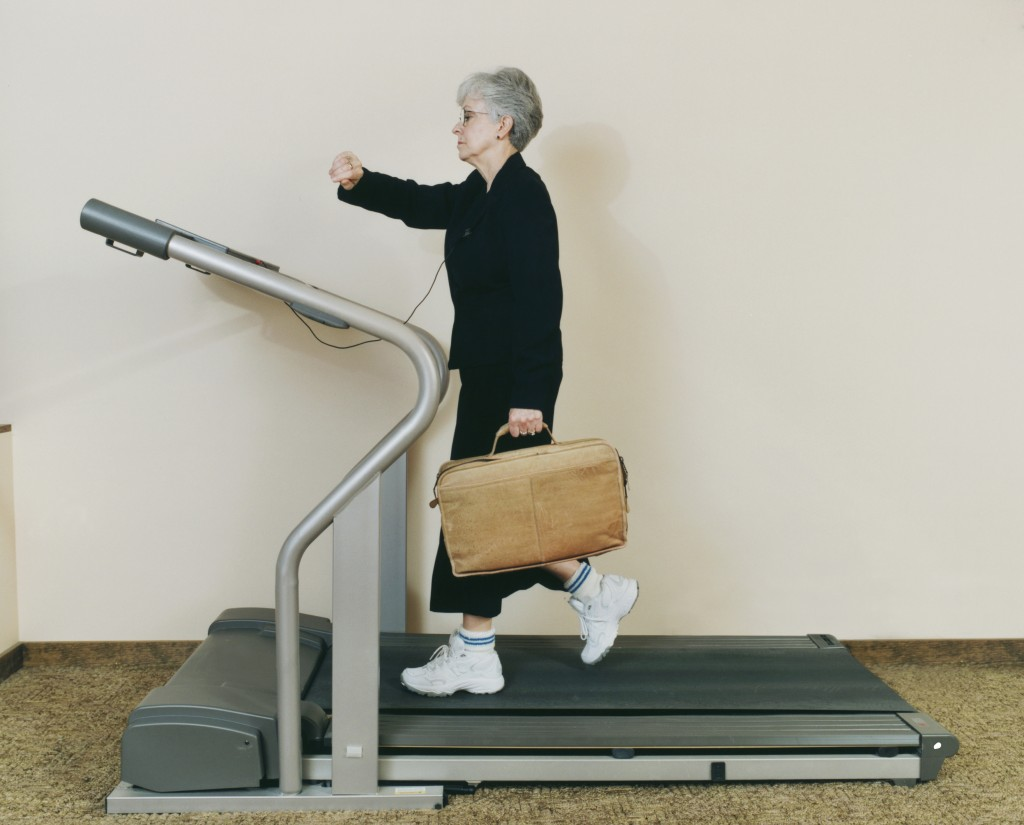 Exercising presents a significant time cost for many Americans. But happens when you do your workout during your workday? Photo by Megan Maloy/Photodisc/Getty Images.