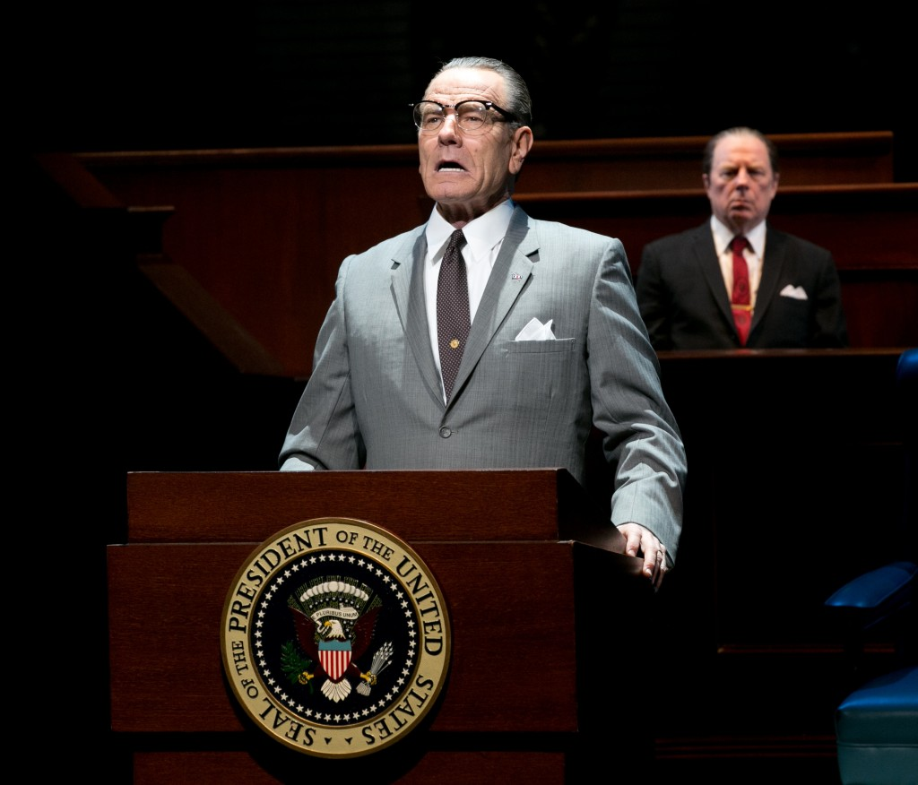 "Bryan Cranston portrays President Lyndon B. Johnson during his first year in office in ""All the Way"" on Broadway. Credit: Evgenia Eliseeva"
