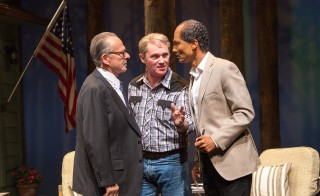 Ron Rifkin as Menachem Begin, Richard Thomas as Jimmy Carter and Khaled Nabawy as Anwar Sadat in Camp David at Arena Stage at the Mead Center for American Theater March 21-May 4, 2014. Photo by Teresa Wood.