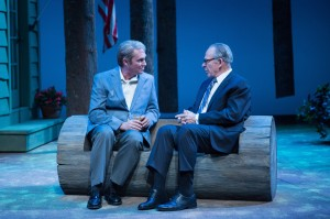 (L to R) Richard Thomas as Jimmy Carter and Ron Rifkin as Menachem Begin in Camp David. Photo by Teresa Wood.