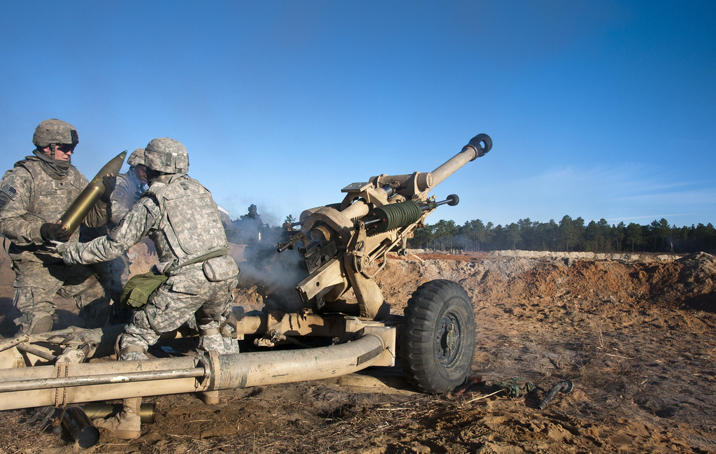 The 321st Airborne Field Regiment conducts a live-fire exercise at Fort Bragg, N.C. At least eight female lieutenants have been brought into the 3rd Battalion of the 321st Field Artillery Regiment beginning late last year to lead field artillery units. U.S. Army photo by Sgt. Juan F. Jimenez/4th BCt, 82nd Abn. Div. PAO
