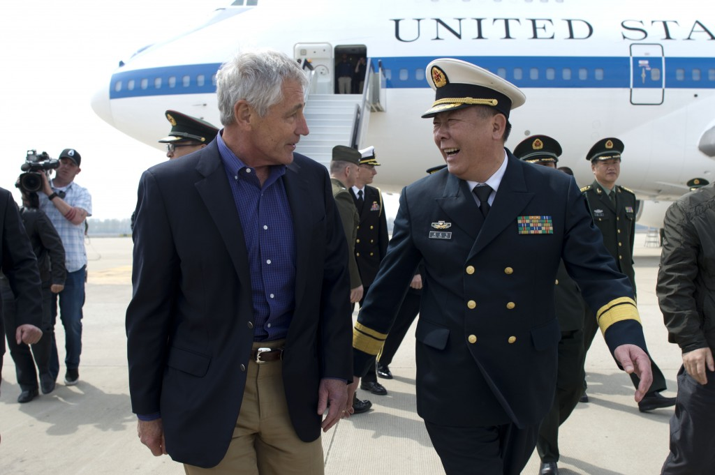 Secretary of Defense Chuck Hagel visits Qingdao, China on April 7, 2014.  Photo by Erin A. Kirk-Cuomo/DOD