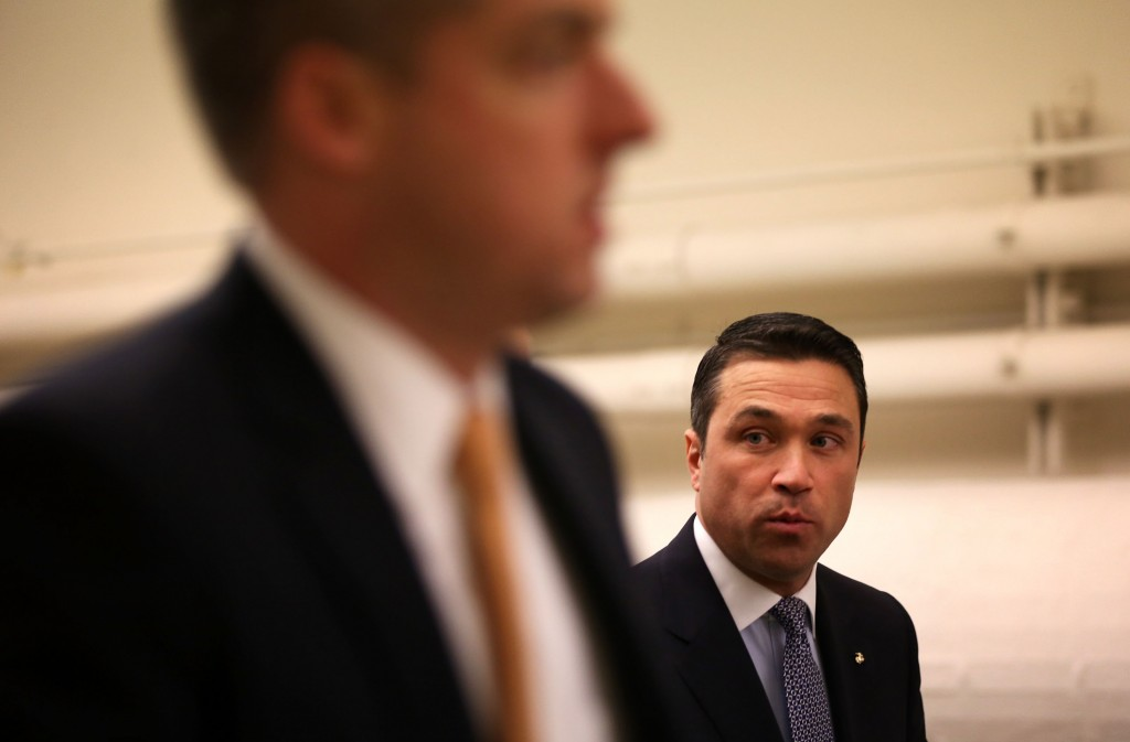 New York Republican Rep. Michael Grimm on his way for a vote at the Capitol January 15, 2013 on Capitol Hill in Washington, DC. Photo by Alex Wong/Getty Images