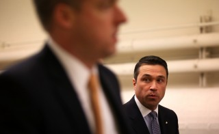 New York Republican Rep. Michael Grimm (R-NY) on his way for a vote at the Capitol January 15, 2013 on Capitol Hill in Washington, DC. Photo by Alex Wong/Getty Images