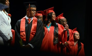 The Education Department said Tuesday that the high school graduation rate rose slightly to 82 percent. (Photo by Jahi Chikwendiu/The Washington Post)