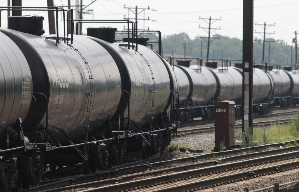Empty railroad tank cars snake their way into a storage yard in Newark, Delaware, July 28, 2013. The cars will return to North Dakota's Bakken region to be loaded with crude oil for another trip to the refinery at Delaware City, Delaware. With a shortage of new pipeline capacity, oil producers have been using rail as an alternative, and in some cases it's the preferred mode. Photo by Curtis Tate/MCT via Getty Images