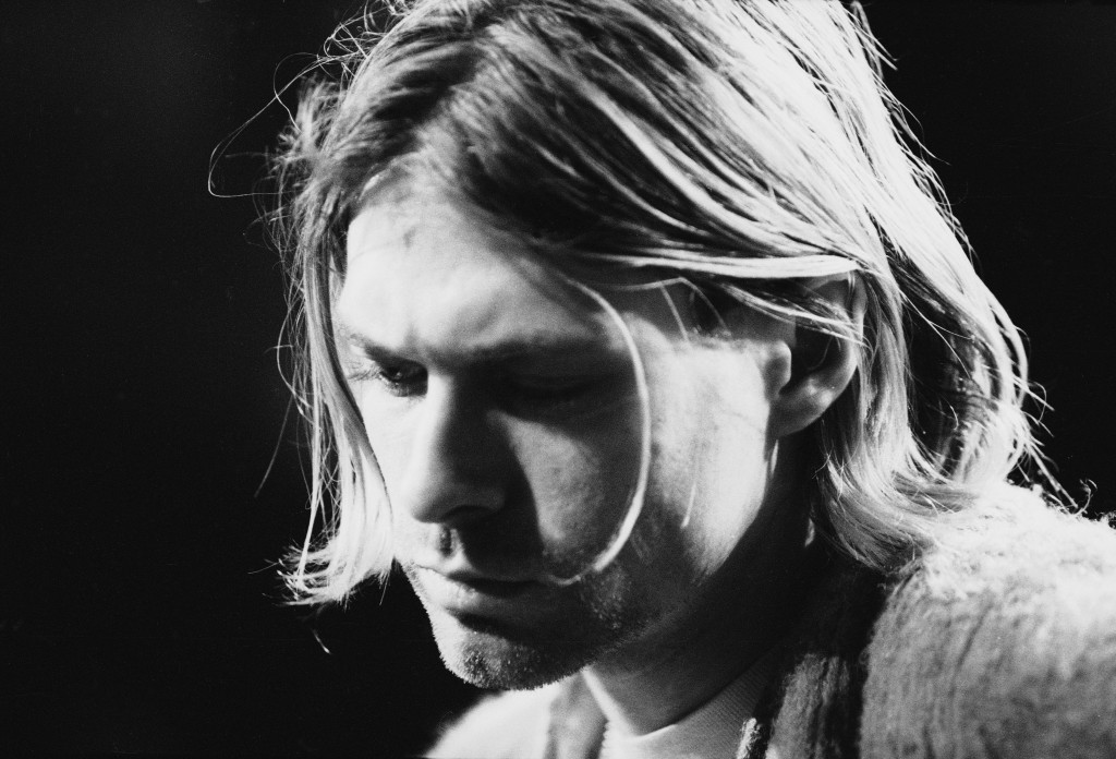 American singer and guitarist Kurt Cobain performs with his group Nirvana at a taping of the television program 'MTV Unplugged,' New York, New York, November 18, 1993. Photo by Frank Micelotta/Getty Images