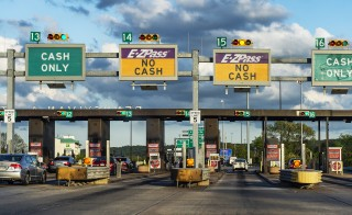 E-Z Pass toll booth in Philadelphia. Photo by John Greim/LightRocket via Getty Images