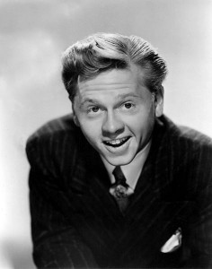 Mickey Rooney in a 1940 studio portrait.