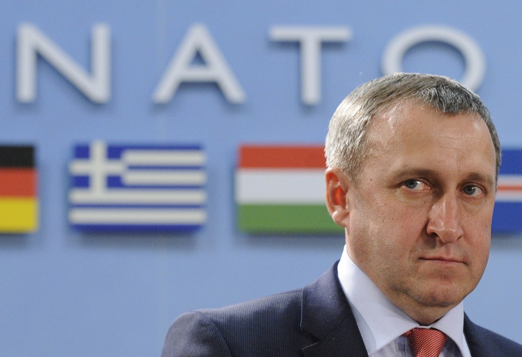 Ukraine Foreign Affairs minister Andrii Deshchytsia at the Nato-Ukraine Foreign Affairs meeting at the NATO headquarters in Brussels on April, 01 2014. Photo by John Thys/AFP/Getty Images)