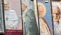 Final Preparations Are Made For The Canonisation Of Pope John Paul II And Pope John XXIII