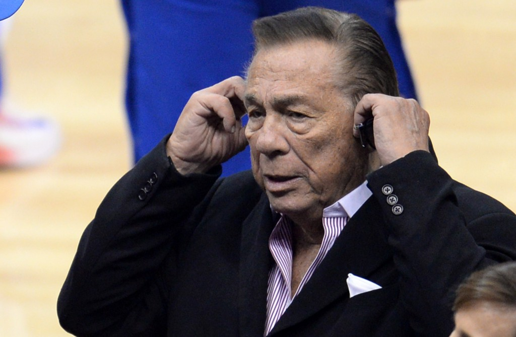 Los Angeles Clippers owner Donald Sterling attends the NBA playoff game in April. With the NBA forcing Sterling to sell the Los Angeles Clippers, the disgraced owner hopes his estranged wife can oversee the negotiations. Photo by Robyn Beck/AFP/Getty Images