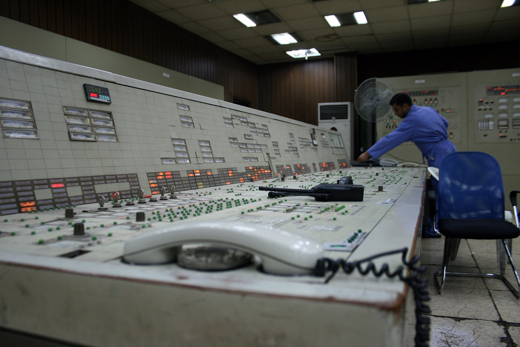 Inside the Doura power station in southeast Baghdad. Photo by Larisa Epatko