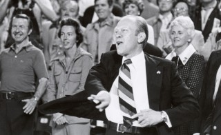 Gerald Ford, pictured here tossing out an opening day pitch in 1976, is widely considered to be one of the healthiest and most athletic presidents in U.S. history.