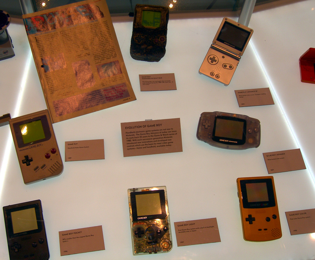 The numerous iterations of the Game Boy over the years. Photo by Flickr user walknboston