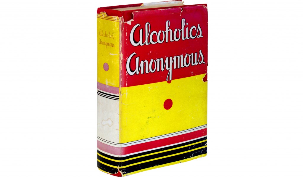 The 1939 first edition, first printing of Alcoholics Anonymous by Bill Wilson from 1939, known as the Big Book. Photo by Flickr user AbeBooks