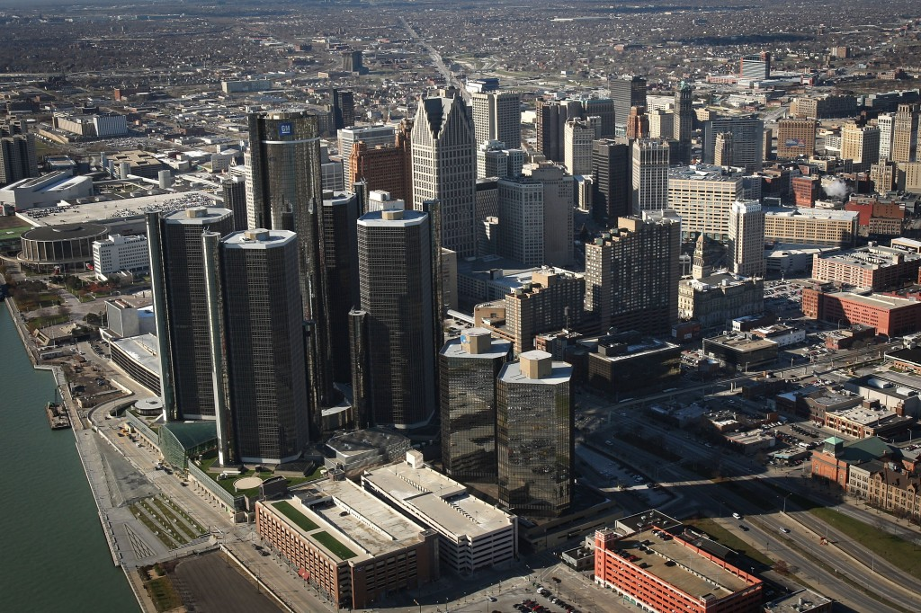 Detroit skyline. Photo by Spencer Platt/Getty Images