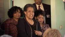 Myrlie Evers tells how her husband Medgar Evers was shot at their home in Jackson, Mississippi. She spoke during the annual Congressional Civil Rights Pilgrimage.