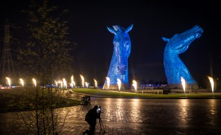 The horses are part of Helix Park, near Falkirk in central Scotland. Photo by Flickr user Brian Smith
