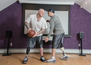 Brothers J.P. and Paul Norden both lost their right leg from the second explosion at the 2013 Boston Marathon. Photo courtesy of Twiceasstrong.com