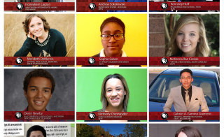 The PBS NewsHour Student Reporting Labs All-Stars. Click on the photo to learn more about each of the student reporters.