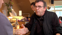 Amsterdam cafe owner Michael Veling compares pot potency to liquor.