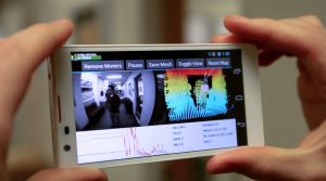 A cellphone-sized device captures 3-D information and displays it on screen.