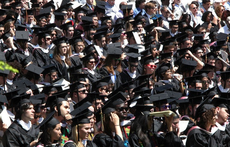 Photo of 2012 Vassar College commencement by Paul Zimmerman/Getty Images.