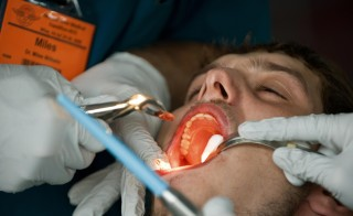 "A free ""teledentistry"" program in California offers dental care for low-income patients who don't have access to regular dental care. Photo by Paul J. Richards/AFP/Getty Images"