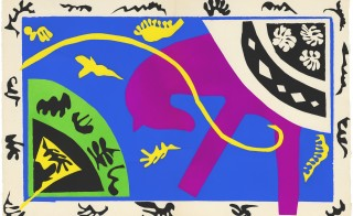 """The Horse, the Rider, and the Clown 1943-4."" Maquette for plate V of the illustrated book ""Jazz."" Art by Henri Matisse/Image by Centre Pompidou"