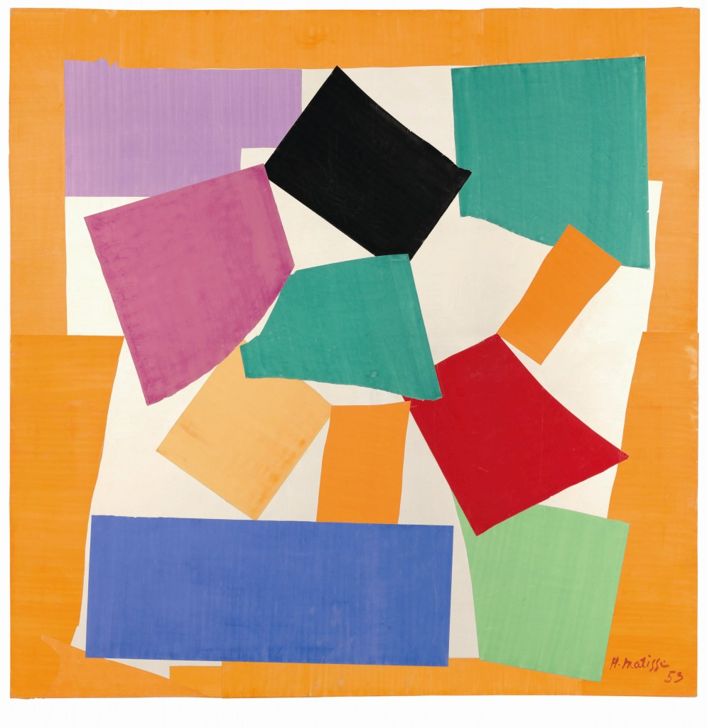 """The Snail 1953."" Gouache on paper, cut and pasted on paper mounted to canvas. Art by Henri Matisse / Image by Tate"