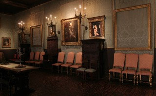 "The FBI agent in charge of the investigation into the 1990 theft of $500 million worth of masterpieces from the Isabella Stewart Gardner Museum in Boston says the bureau has confirmed sightings of the missing artwork. In this photo, taken in the Dutch Room, two empty frames indicated that the work has never been returned. On the left was ""A Lady and Gentleman in Black"" and on the right ""The Storm on the Sea of Galilee,"" both by Rembrandt. Photo by Janet Knott/The Boston Globe via Getty Images"