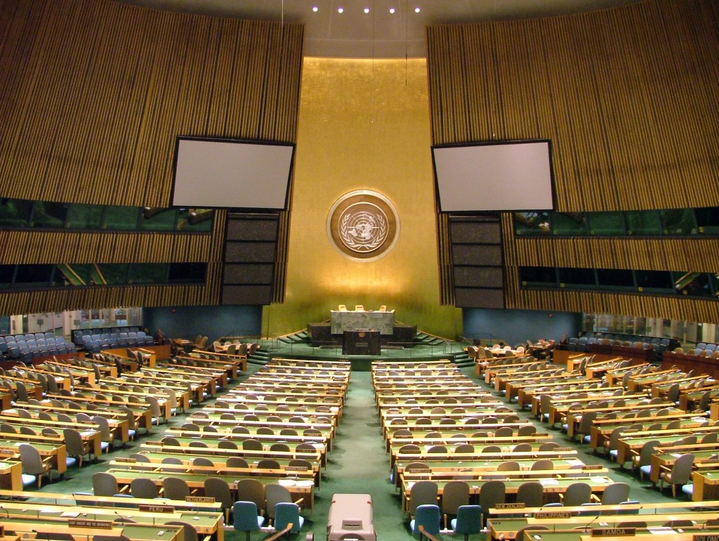The United Nations General Assembly. Photo by Flickr user Paul VanDerWerf