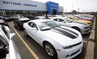 A General Motors Chevrolet dealership is shown April 24, 2014 in Royal Oak, Michigan. Photo by Bill Pugliano/Getty Images