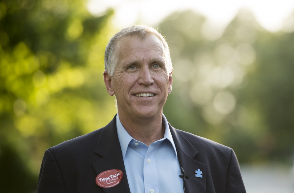 GOP Senate nominee Thom Tillis in Huntersville, N.C., Monday, the evening before North Carolina's primary election. Photo By Bill Clark/CQ Roll Call