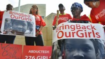 Bring Our Girls Back Protest at the Nigerian Embassy in Washington, DC
