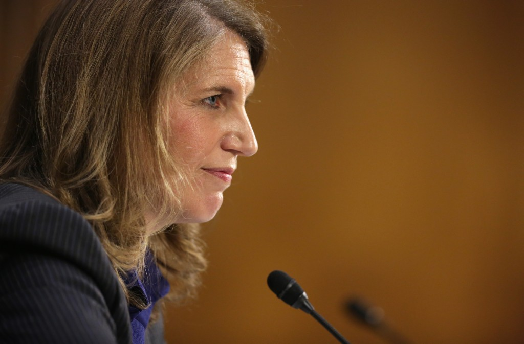Director of the White House Office of Management and Budget Sylvia Mathews Burwell testifies during her confirmation hearing before the Senate Health Committee May 8, 2014. Photo by Alex Wong/Getty Images