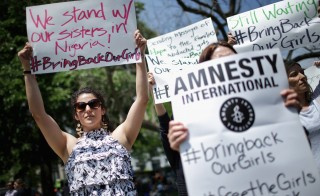 Amnesty International Holds Vigil For Abducted Nigerian School Girls