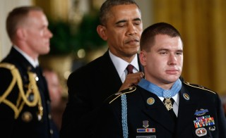 President Obama Awards The Medal Of Honor To Army Sergeant Kyle White