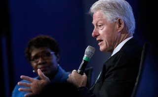 Former President Bill Clinton sat down for an hour-long conversation with Gwen Ifill Wednesday at the Peter G. Peterson Foundation's fifth annual fiscal summit. Photo by Win McNamee/Getty Images