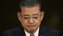 Veterans Affairs Secretary Eric Shinseki testifies before the Senate Veterans' Affairs Committee on May 15 about wait times veterans face to get medical care. Photo by Chip Somodevilla/Getty Images