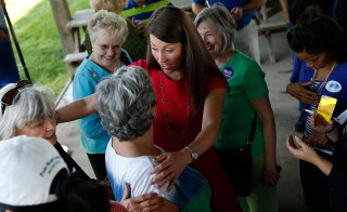 Democrat Alison Grimes Campaigns Ahead Of Kentucky Primary