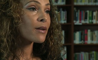 "Still from video of poet Gina Loring reading her poem, ""Inspired by the teens in Central Juvenile Hall, Los Angeles."""