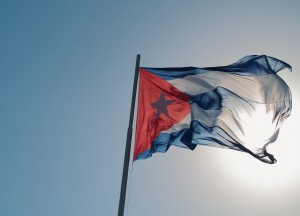 Photo of Cuban flag by Flickr user Melody Breaker
