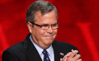 Former Florida Gov. Jeb Bush takes the stage during the final day of the Republican National Convention at the Tampa Bay Times Forum on August 30, 2012 in Tampa, Florida. Photo by Mark Wilson/Getty Images