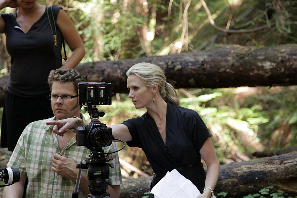 """The Mask You Live In"" director Jennifer Siebel Newsom shoots a scene in California. Photo courtesy of The Representation Project"