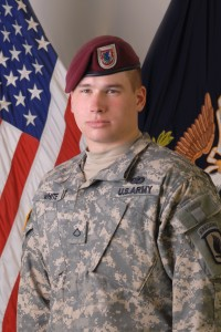 Portrait of then Pfc. Kyle White taken before his deployment to Afghanistan in 2007. Photo courtesy of U.S. Army